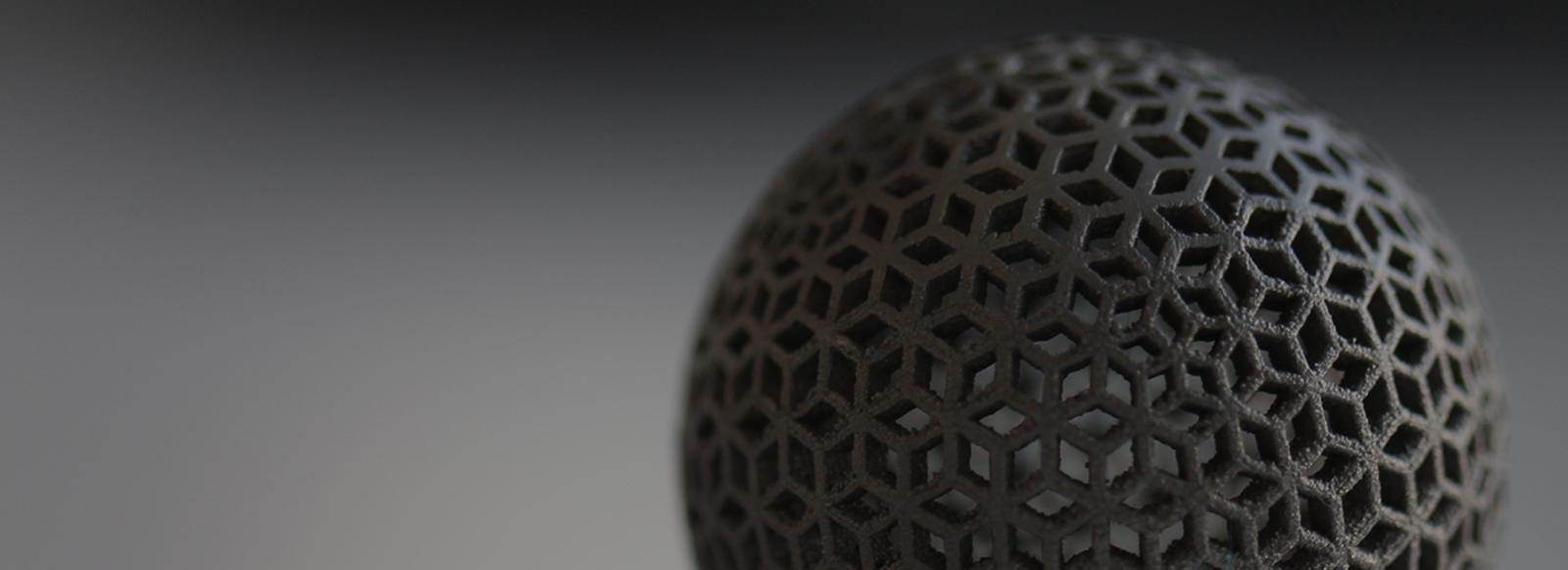 3-d printed / additive manufacturing black sphere