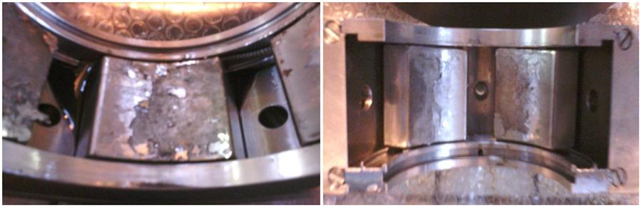 DE bearing lower half and upper half as found condition