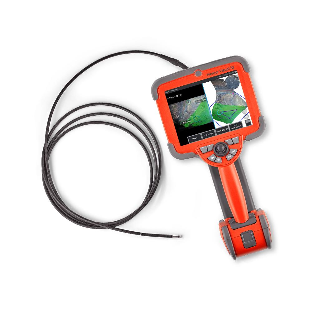 mentor visual IQ videoscope, video borescope inspection camera, remote visual inspection