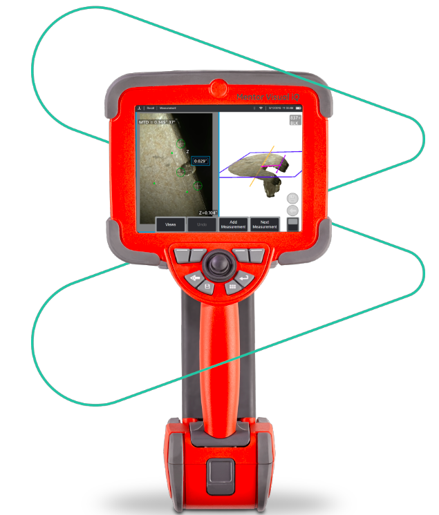 A red handheld video borescope