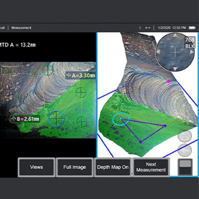surfaced point cloud visualization 3d measurement 3d inspection software mentor visual iq videoscope